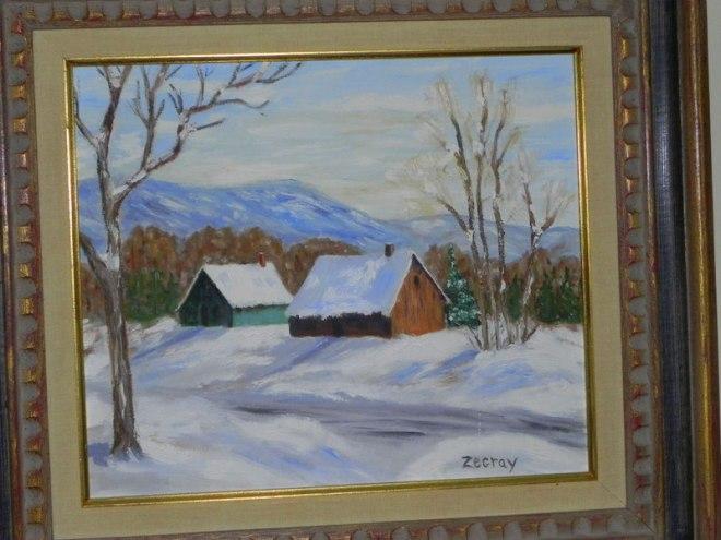 Encore l'hiver dans l'décor
