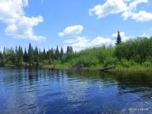 Un petit bout dans la rivière du Milieu