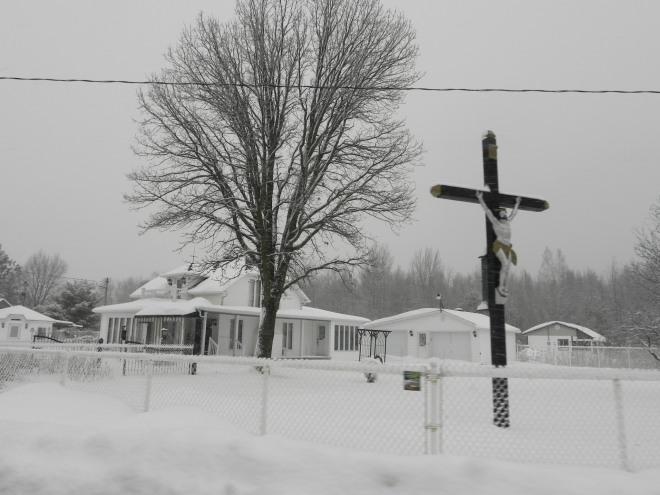 croix route neige